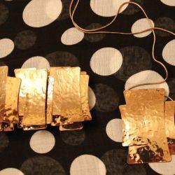 Bilezik + kolye altın rengi ayarlayın