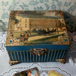Jewelry box vintage gift decoupage