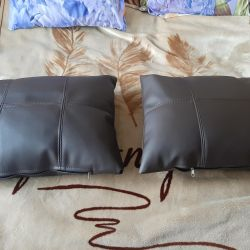 New leatherette pillows