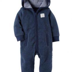 Carter's fleece overalls
