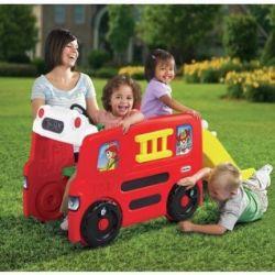 Пожарная машина - горка, игровой комлекс