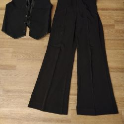 Pants and vest for ballroom dancing