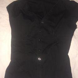 Блузка-рубашка короткий рукав