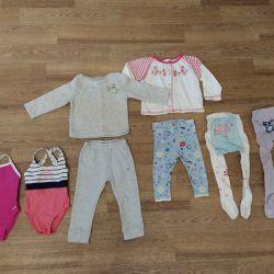 Ένα πακέτο ρούχων για το κορίτσι 74-80 r-ra, για 1-2 χρόνια.