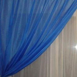 Organza curtain blue