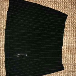 Skirt with striped strip