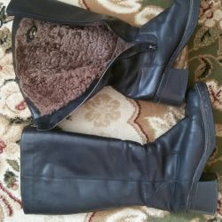 Boo winter boots 39 leather nat.mekh