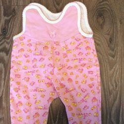 Φόρμες για τα παιδιά ροζ με fleece