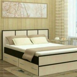 Bed with drawers, with a mattress. 140/200.