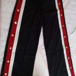 Παντελόνια παντελόνι με πριτσίνια με ρίγες