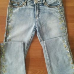 Jeans with paillettes