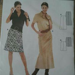 Burda pattern, skirt