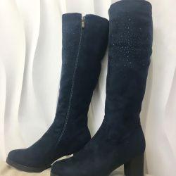 Winter boots 40 r, color blue