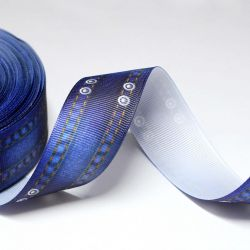 Ribbon 25 mm with pattern