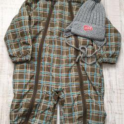 Jumpsuit με μωρό καπέλο κόσμο