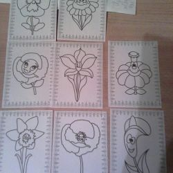 Stencils for stained glass paints