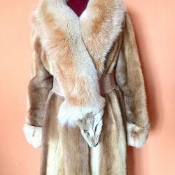 Canadian mink fur coat and fox