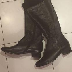 Δερμάτινες μπότες μέγεθος 40