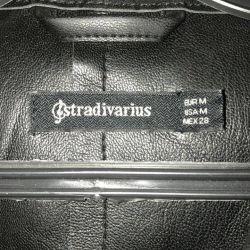 Плащ кожаный Stradivarius