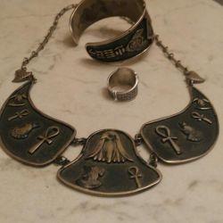 Gümüş 153gr 925 standart bir dizi