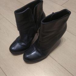 Μπότες δερμάτινες μπούκλες φθινοπώρου 38ρ. Τσέστερ