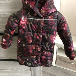 ?Warm spring quilted coat for girls