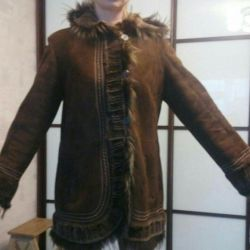 Sheepskin coat is natural. Exchange.