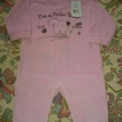Jumpsuit velor new p. 68. Kids' things