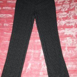 Pants with elastic waistband