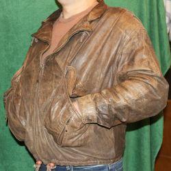 Лeтная кожаная куртка L-XL