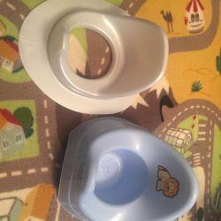 Bath pot for toilet