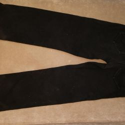 Jeans classic black warmed