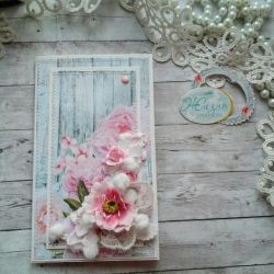 Handmade postcard (scrapbooking)