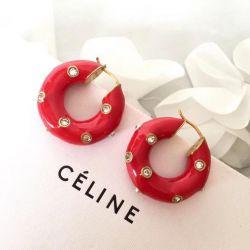 Celine earrings red
