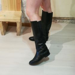 Leather boots. Nat 37
