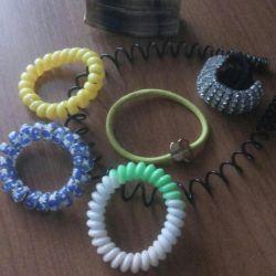 Elastic bands, hairpins 20r