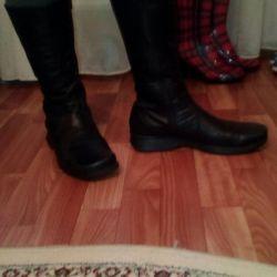 Δερμάτινες μπότες. unisex φθινόπωρο