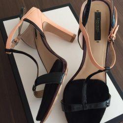 Sandals Zara, 39 size exchange / sale