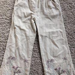 pants for girl flax