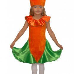 Children's carnival costume Carrot