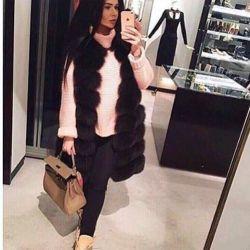 Fur vest Arctic fox 90 cm