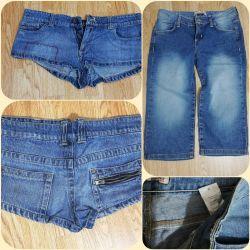 Shorts, capri jeans