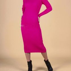 Knit midi φόρεμα