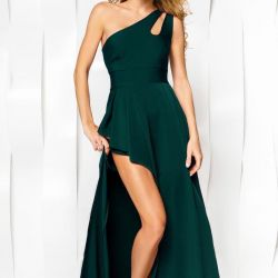 Asymmetrical evening dress, new, size 44-46