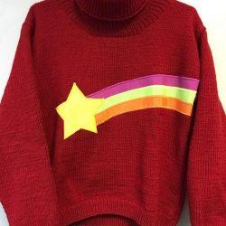 Πουλόβερ Mabel με το αστέρι Gravity Falls (applique)