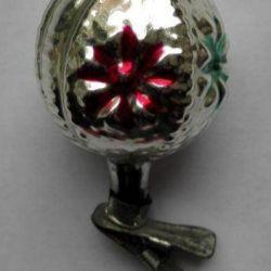 Χριστουγεννιάτικο δέντρο παιχνίδι σε clothespin Shar-Φακός USSR 60s