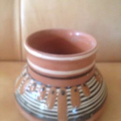 Ваза обливная керамика СССР