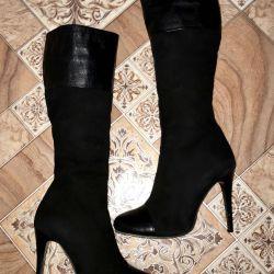 Χειμερινές μπότες από γνήσιο δέρμα Mario Muzi