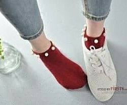 Носки с жемчугом