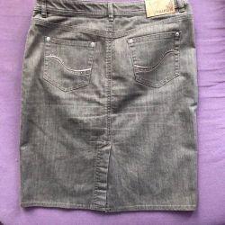 Юбка джинсовая(48 размер)